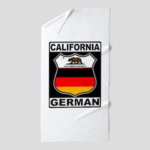 California German American Beach Towel
