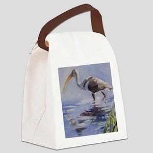 Ibis in Grassy Marsh Canvas Lunch Bag