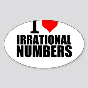 I Love Irrational Numbers Sticker