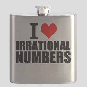I Love Irrational Numbers Flask