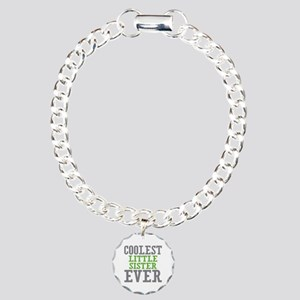 Coolest Little Sister Ever Charm Bracelet, One Cha
