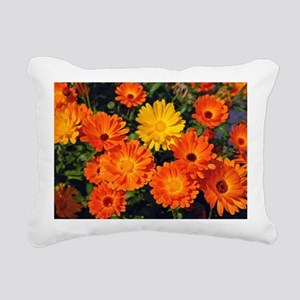 Beautiful orange flowers Rectangular Canvas Pillow