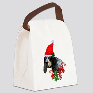 Bluetick Coonhound Christmas Canvas Lunch Bag