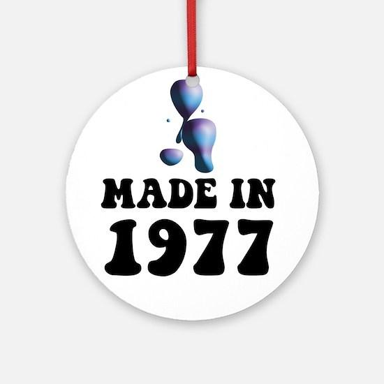 Made In 1977 Lava Lamp Ornament (Round)