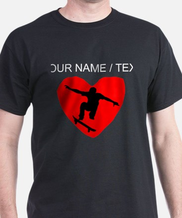 Custom Skateboarding Heart T-Shirt