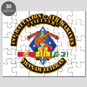 1st Bn - 4th Marines w VN SVC Ribbon Puzzle