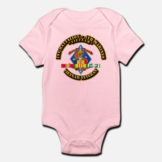 1st Bn - 4th Marines w VN SVC Ribbon Infant Bodysu