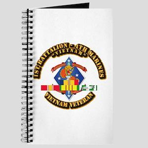 1st Bn - 4th Marines w VN SVC Ribbon Journal