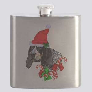 Bluetick Coonhound Christmas Flask