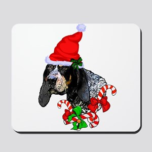 Bluetick Coonhound Christmas Mousepad