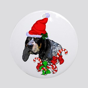Bluetick Coonhound Christmas Round Ornament