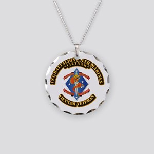 1st Bn - 4th Marines Necklace Circle Charm
