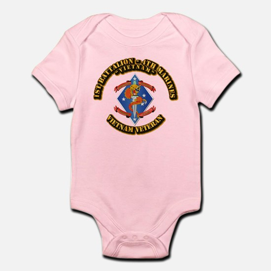 1st Bn - 4th Marines Infant Bodysuit