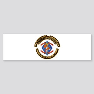 1st Bn - 4th Marines with Text Sticker (Bumper)