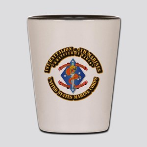 1st Bn - 4th Marines with Text Shot Glass
