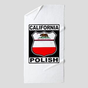 California Polish American Beach Towel