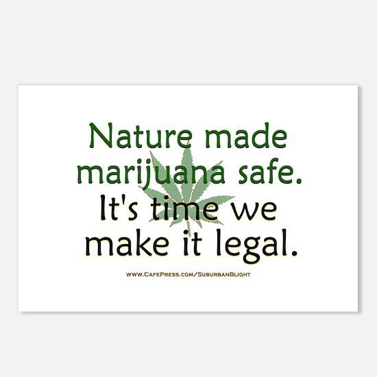 """Nature Made Marijuana Safe"" Postcards (Package of"
