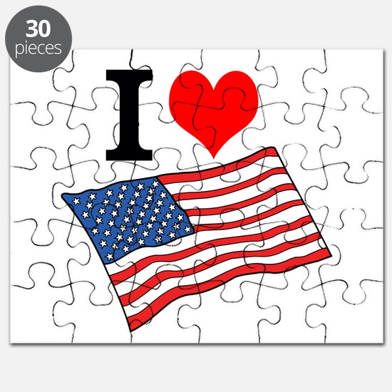I Love USA Puzzle