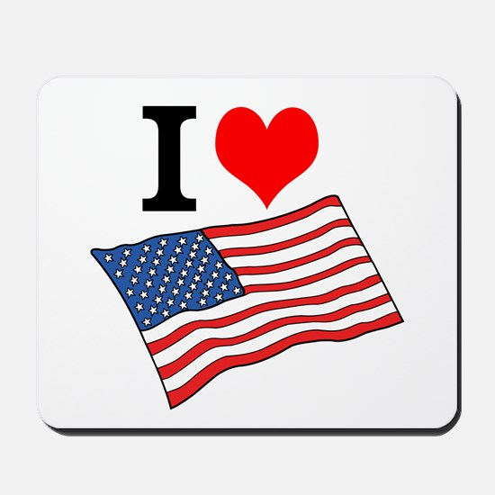 I Love USA Mousepad