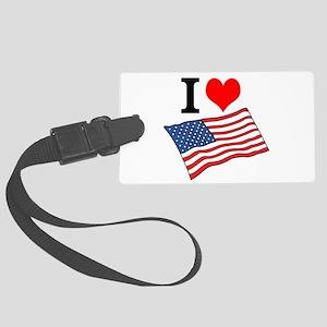 I Love USA Luggage Tag