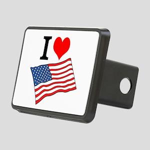 I Love USA Hitch Cover