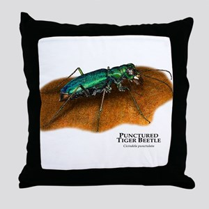 Punctured Tiger Beetle Throw Pillow