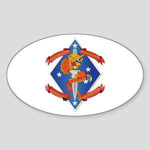 1st Bn - 4th Marines Sticker (Oval)