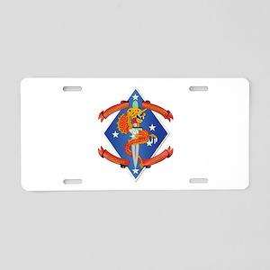 1st Bn - 4th Marines Aluminum License Plate