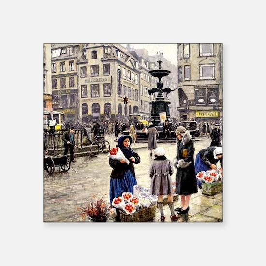 """Paul-Gustave Fischer - A Bu Square Sticker 3"""" x 3"""""""