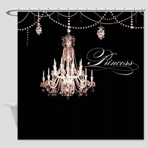 Princess Chandelier Girly Jewel Pearl Design Showe