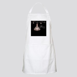 Princess Chandelier Girly Jewel Pearl Design Apron
