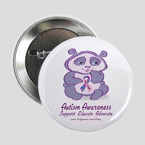 Autism Purple Bear Button