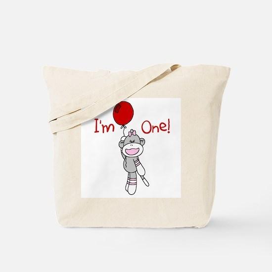 Sock Monkey 1st Birthday Tote Bag