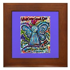 Colorful Cancer Angel Framed Tile