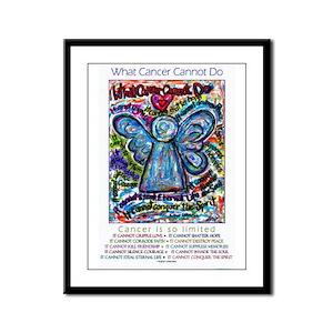 Colorful Cancer Angel Framed Panel Print