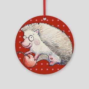 Cute Hedgehog Ornament (Round)