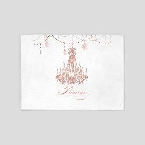 Princess Chandelier Girly Jewel Pearl Design 5'x7'