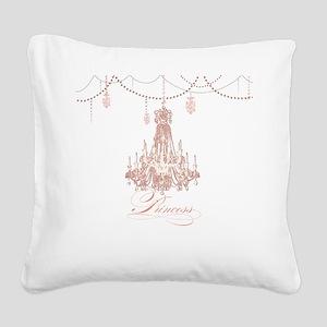 Princess Chandelier Girly Jewel Pearl Design Squar