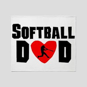 Softball Dad Throw Blanket