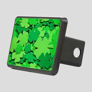 Lucky green clovers Rectangular Hitch Cover