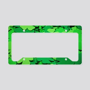 Lucky green clovers License Plate Holder