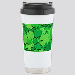 Lucky green clovers Stainless Steel Travel Mug