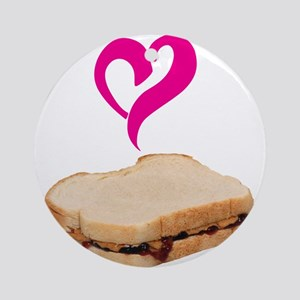 I Love Peanut butter and Jelly Sandwich Ornament (