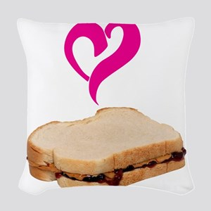 I Love Peanut butter and Jelly Sandwich Woven Thro