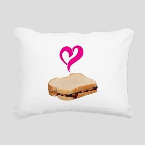I Love Peanut butter and Jelly Sandwich Rectangula