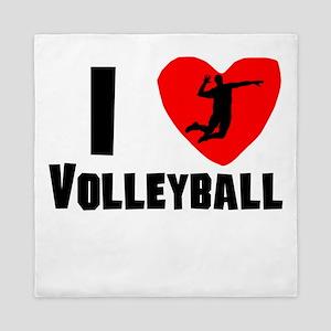 I Heart Volleyball Queen Duvet