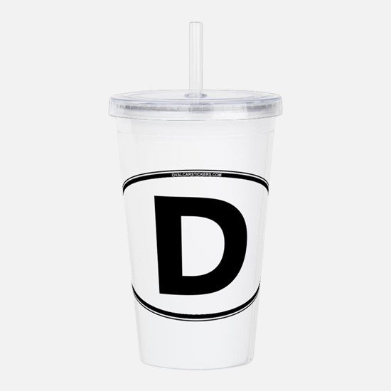 The letter D Acrylic Double-wall Tumbler
