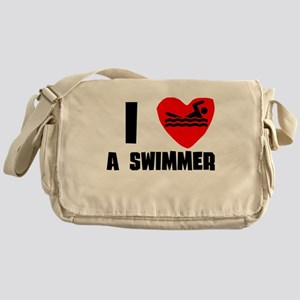 I Heart A Swimmer Messenger Bag