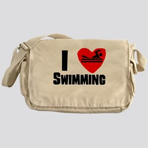 I Heart Swimming Messenger Bag