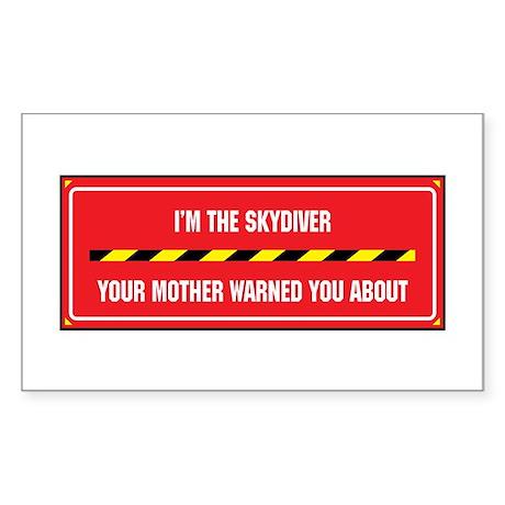 I'm the Sky Diver Rectangle Sticker